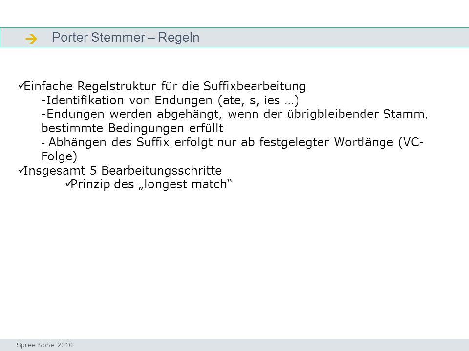 Porter Stemmer – Regeln