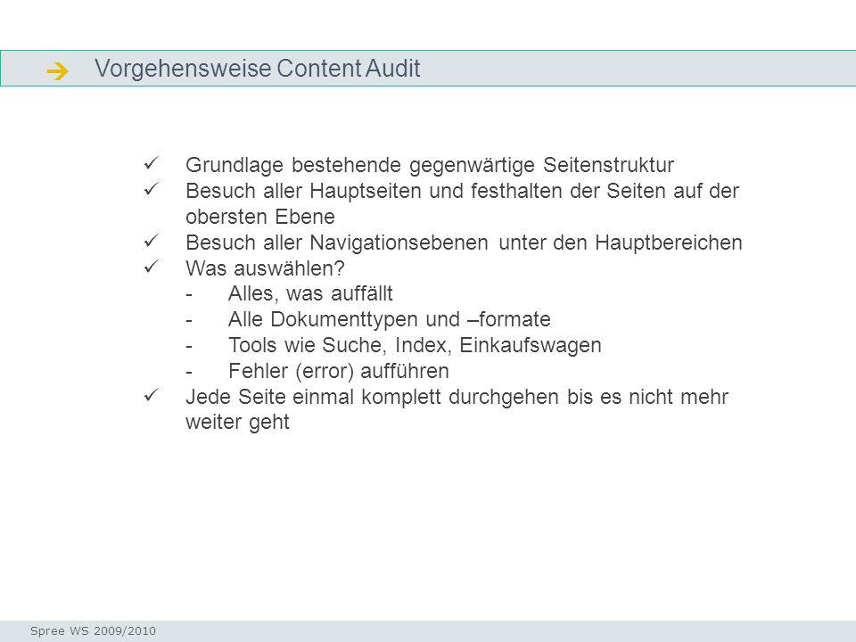  Vorgehensweise Content Audit