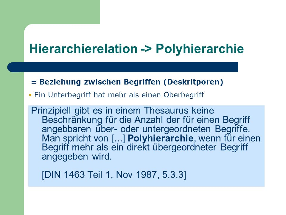Hierarchierelation -> Polyhierarchie