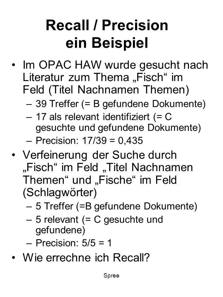 Recall / Precision ein Beispiel