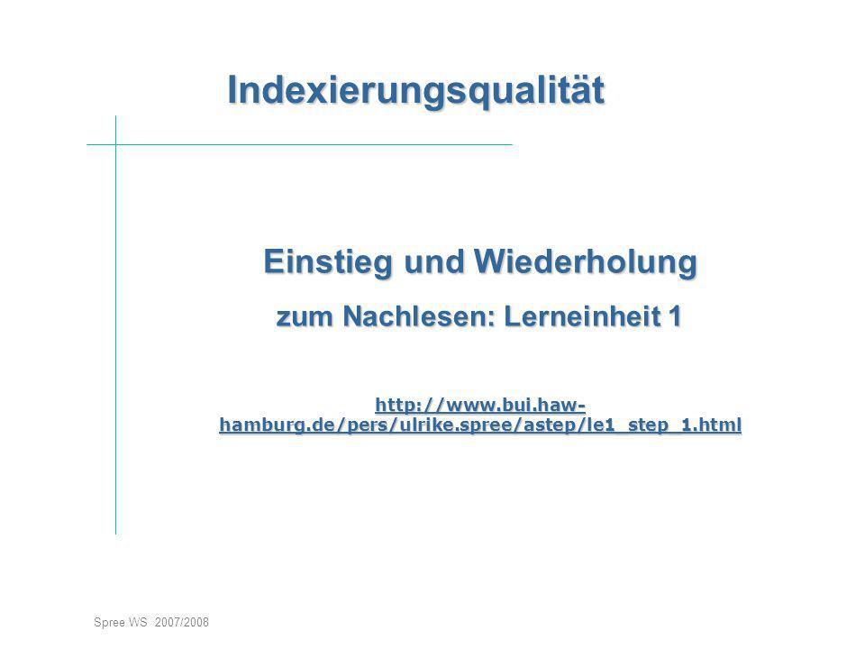 IndexierungsqualitätEinstieg
