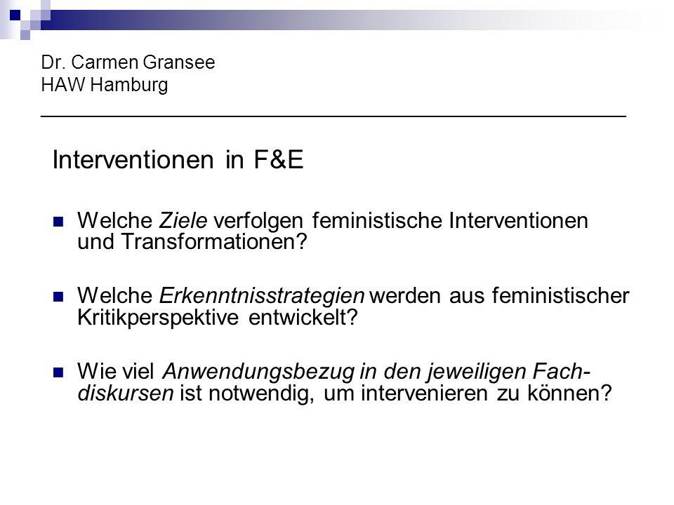 Dr. Carmen Gransee HAW Hamburg ________________________________________________________