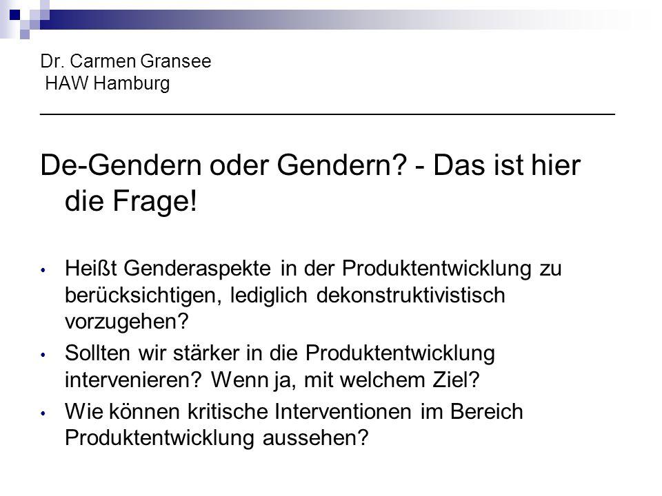 De-Gendern oder Gendern - Das ist hier die Frage!