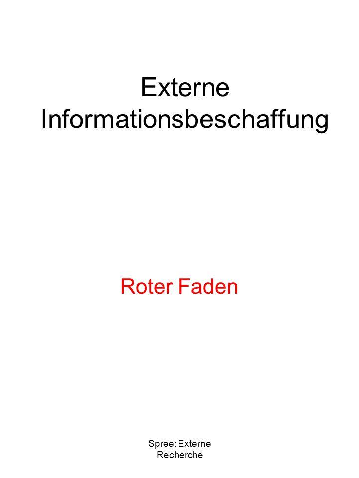 Externe Informationsbeschaffung