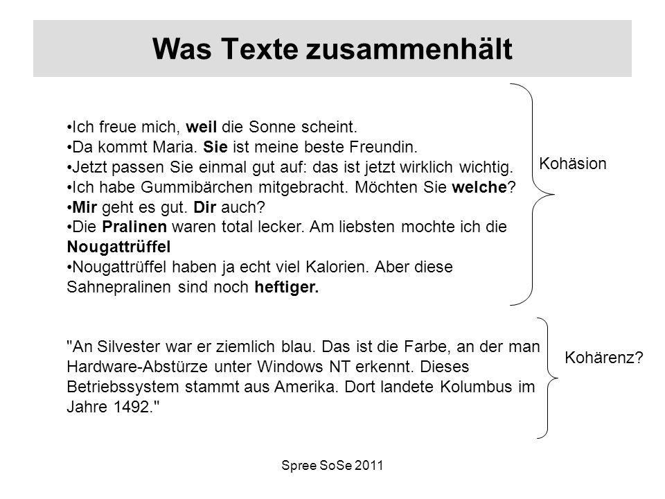 Was Texte zusammenhält
