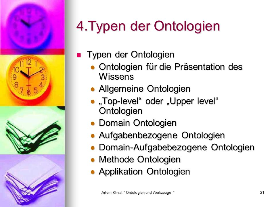 Artem Khvat Ontologien und Werkzeuge