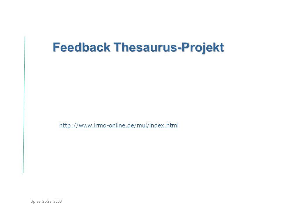 Feedback Thesaurus-Projekt