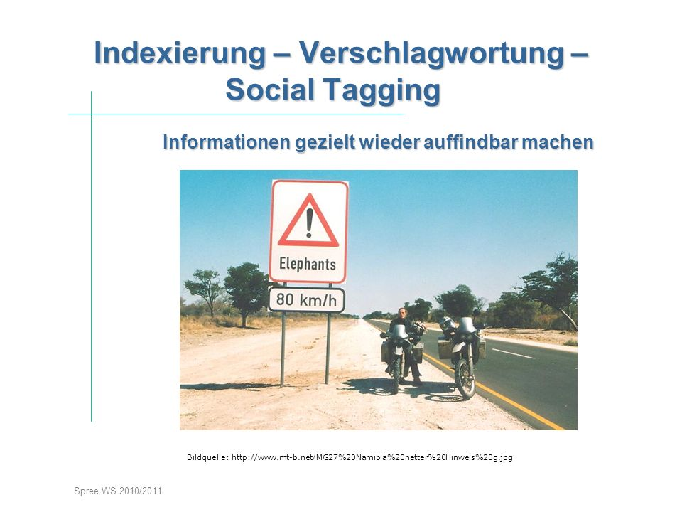 Indexierung – Verschlagwortung –Social Taggingstieg