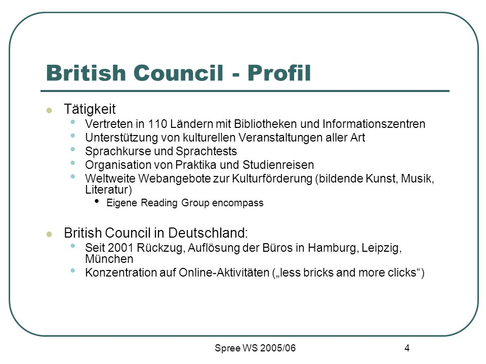 British Council - Profil