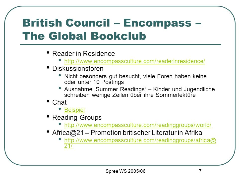 British Council – Encompass – The Global Bookclub