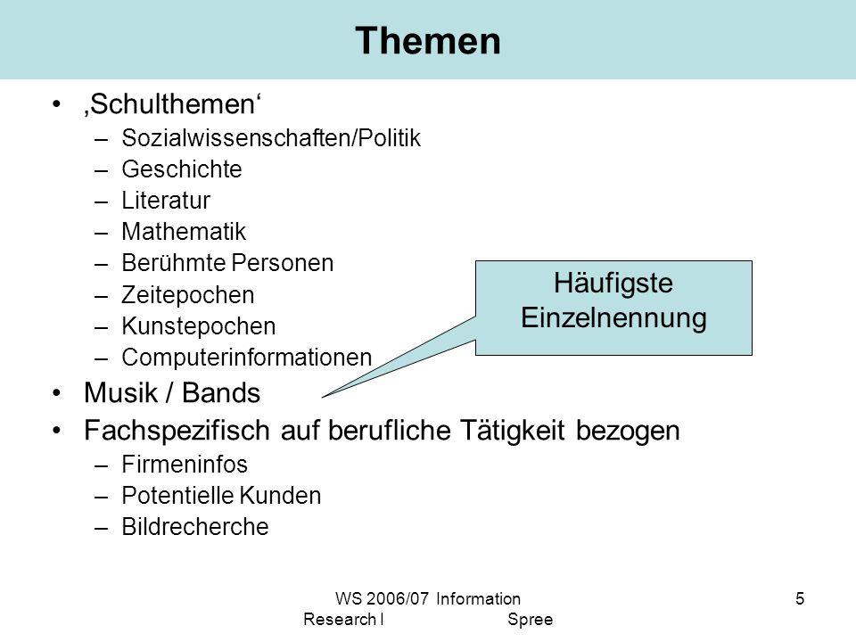 Themen 'Schulthemen' Musik / Bands