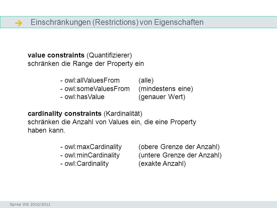  Einschränkungen (Restrictions) von Eigenschaften