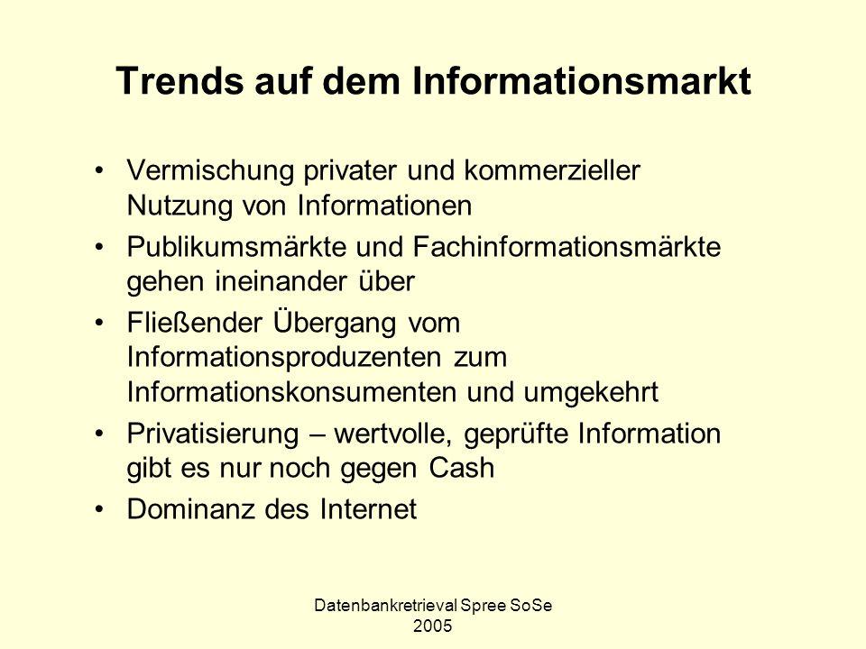 Trends auf dem Informationsmarkt