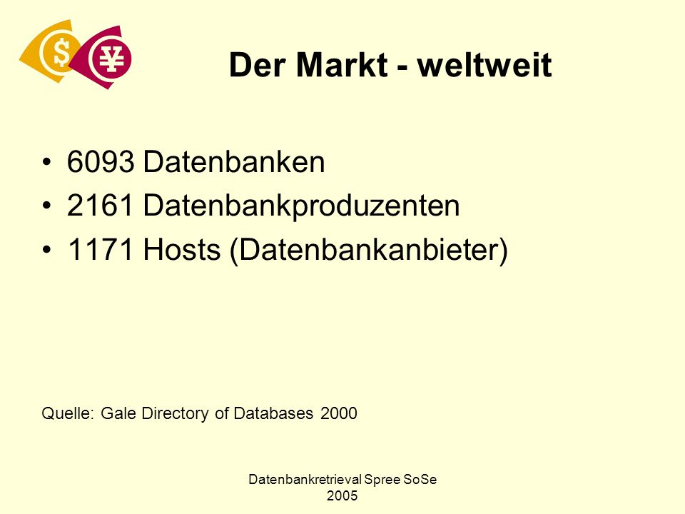 Datenbankretrieval Spree SoSe 2005