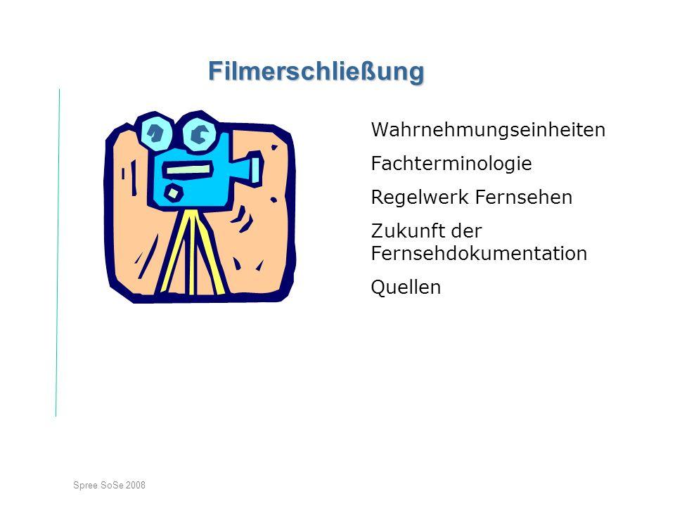 Filmerschließung Wahrnehmungseinheiten Fachterminologie