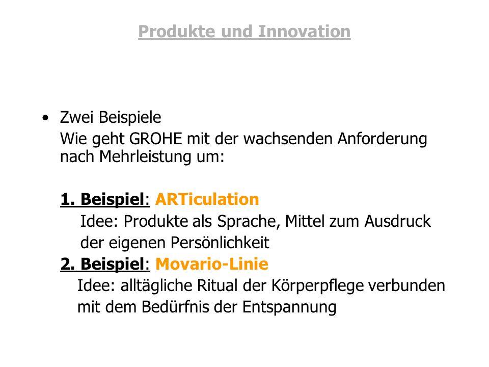 Produkte und Innovation
