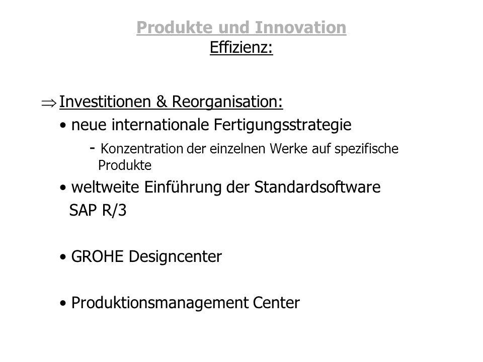 Produkte und Innovation Effizienz: