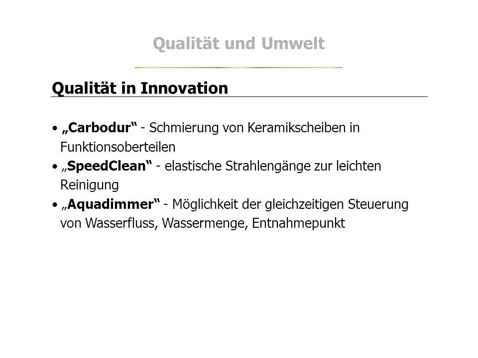 Qualität und Umwelt Qualität in Innovation