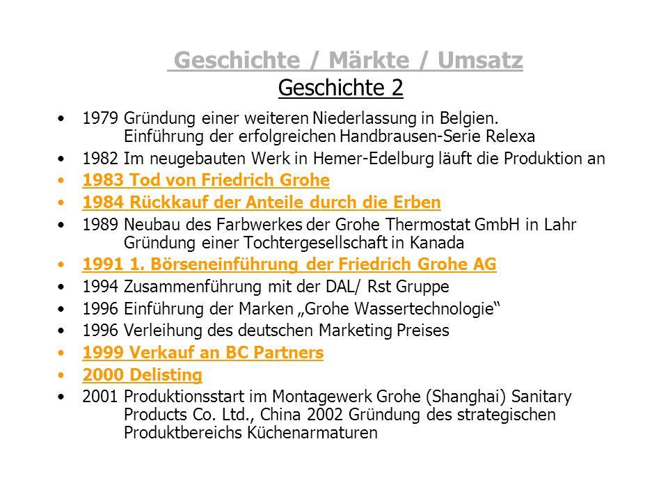 Geschichte / Märkte / Umsatz Geschichte 2