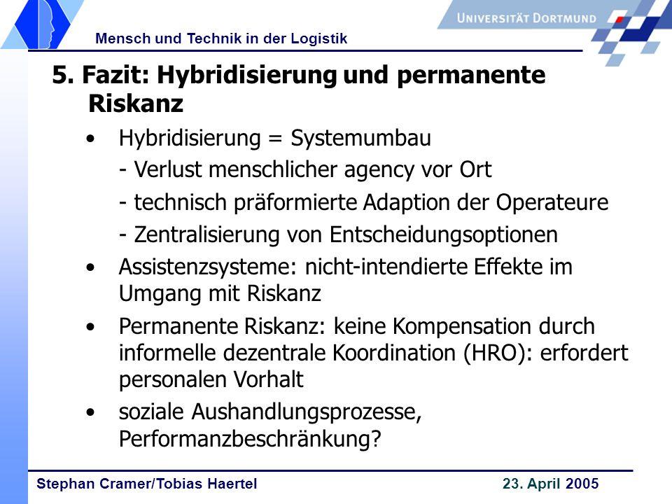 5. Fazit: Hybridisierung und permanente Riskanz
