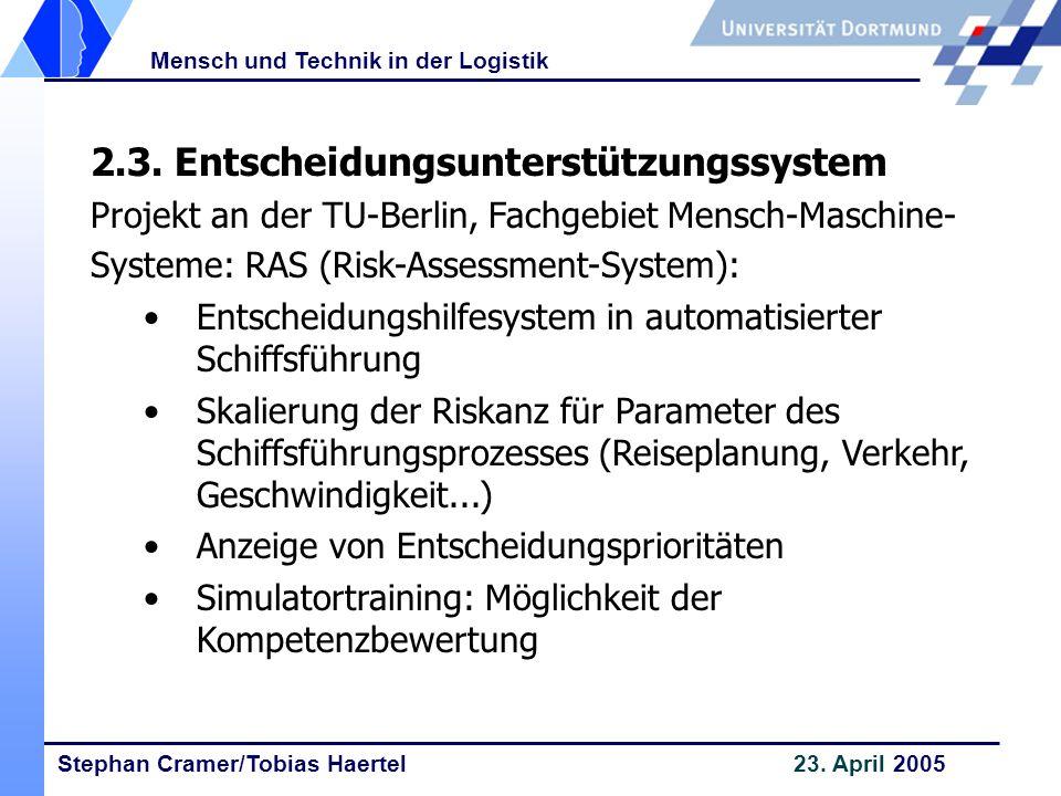 2.3. Entscheidungsunterstützungssystem