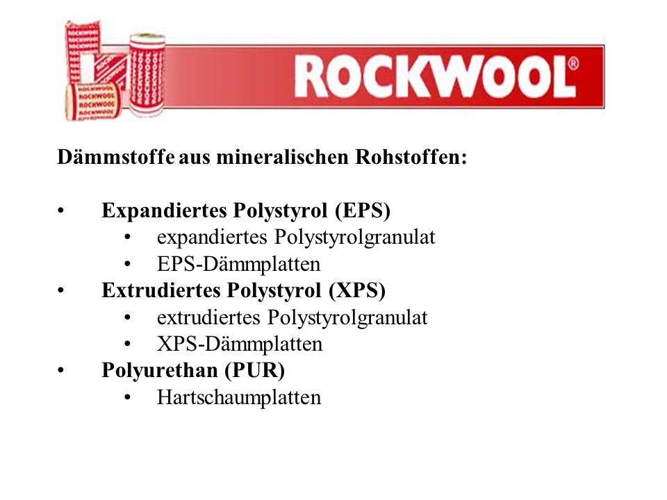 Dämmstoffe aus mineralischen Rohstoffen: