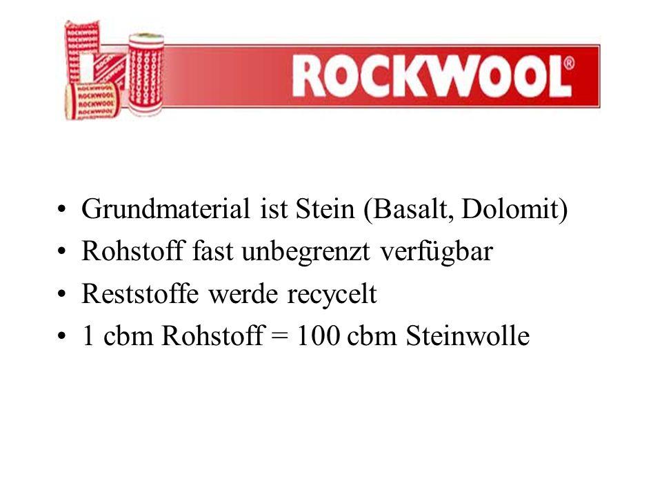 Grundmaterial ist Stein (Basalt, Dolomit)