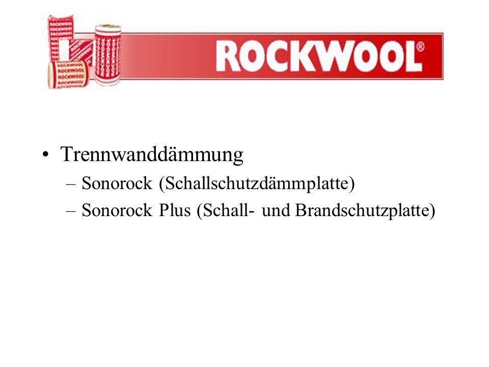 Trennwanddämmung Sonorock (Schallschutzdämmplatte)
