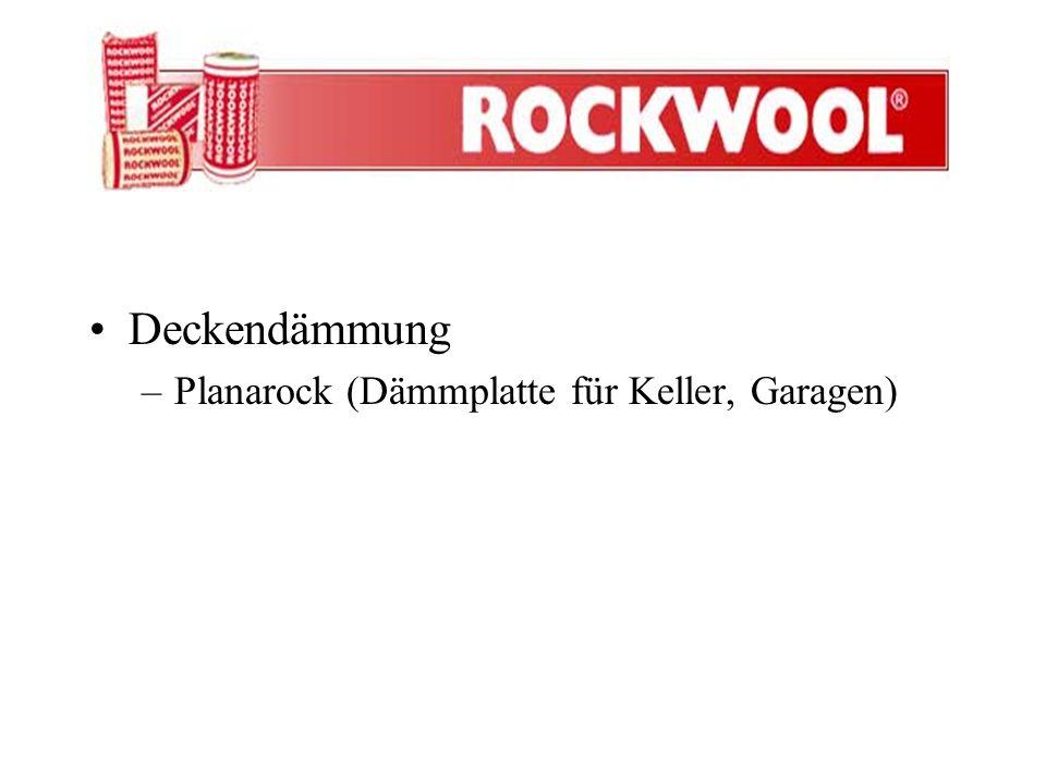 Deckendämmung Planarock (Dämmplatte für Keller, Garagen)