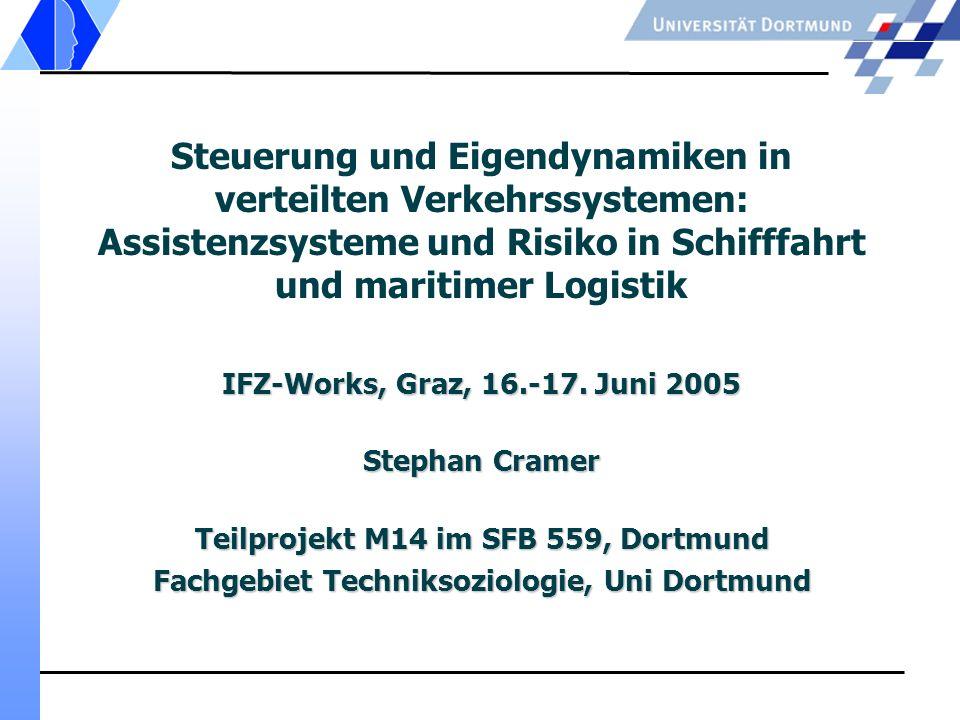 Steuerung und Eigendynamiken in verteilten Verkehrssystemen: Assistenzsysteme und Risiko in Schifffahrt und maritimer Logistik