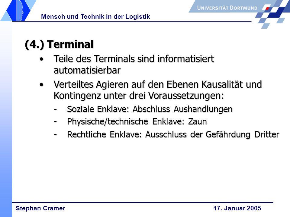 (4.) Terminal Teile des Terminals sind informatisiert automatisierbar