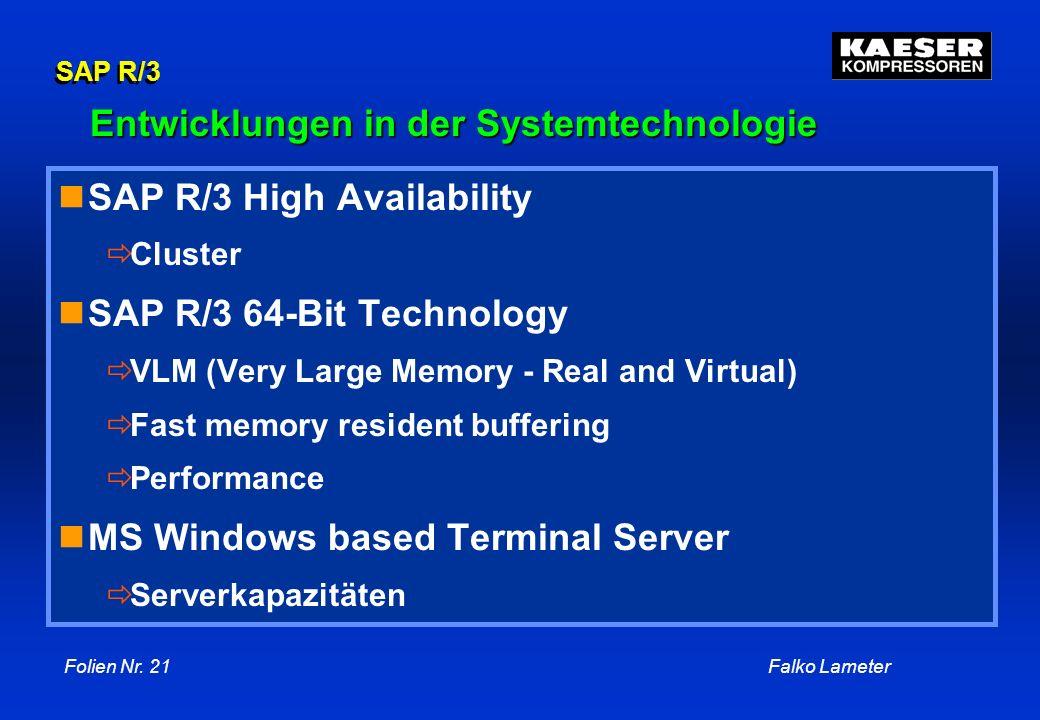 Entwicklungen in der Systemtechnologie