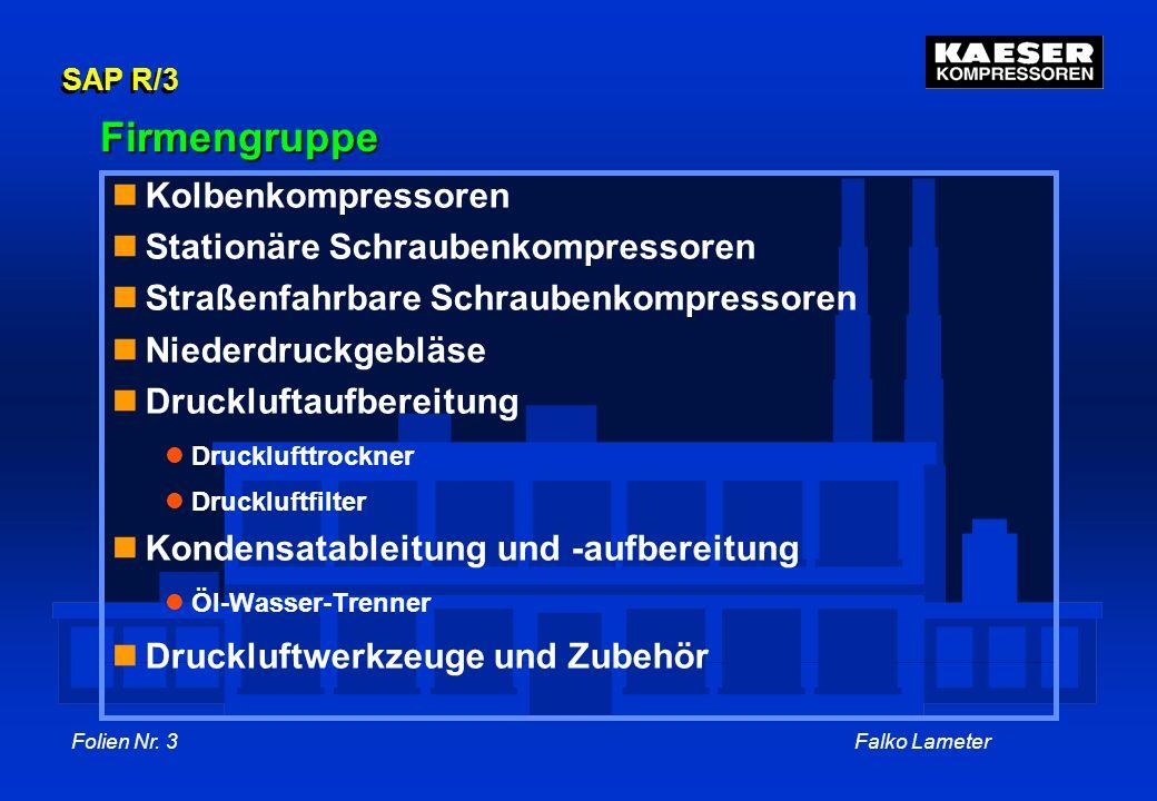 Firmengruppe Kolbenkompressoren Stationäre Schraubenkompressoren
