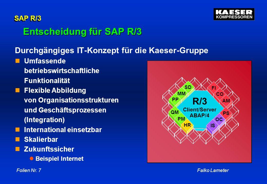 Entscheidung für SAP R/3