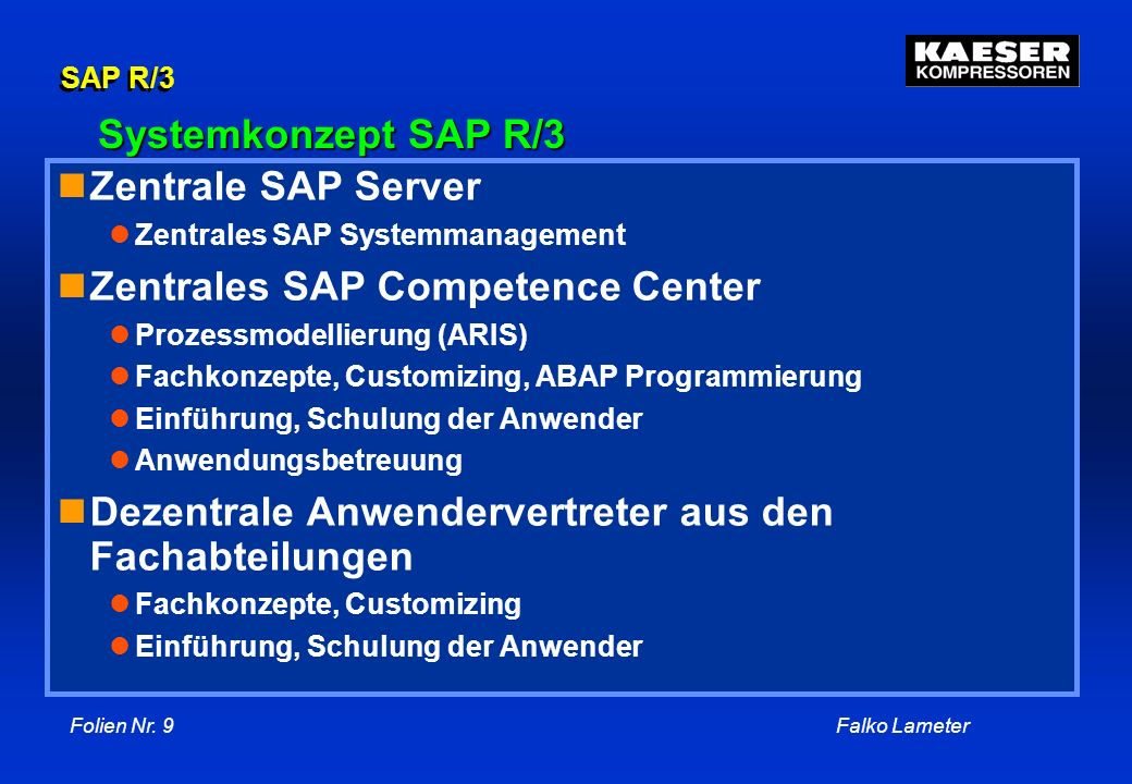 Zentrales SAP Competence Center