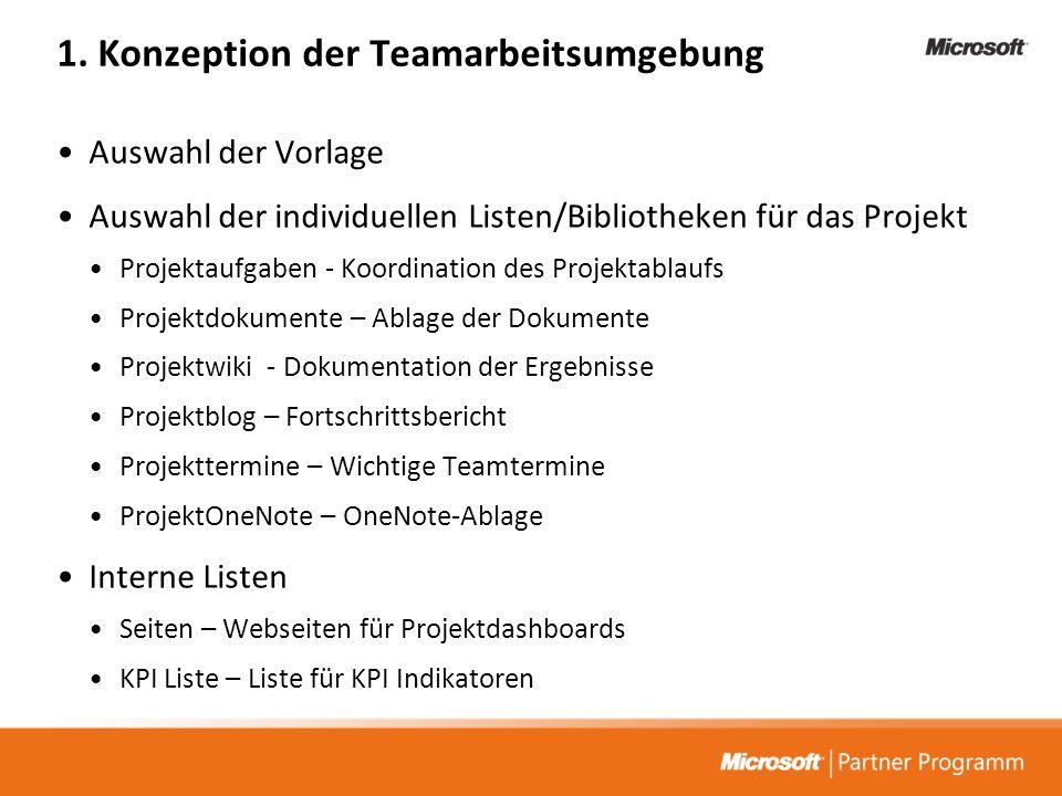 1. Konzeption der Teamarbeitsumgebung