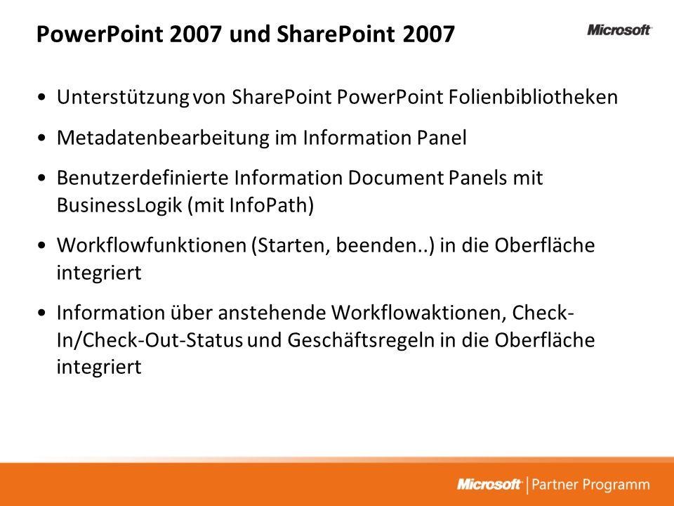 PowerPoint 2007 und SharePoint 2007