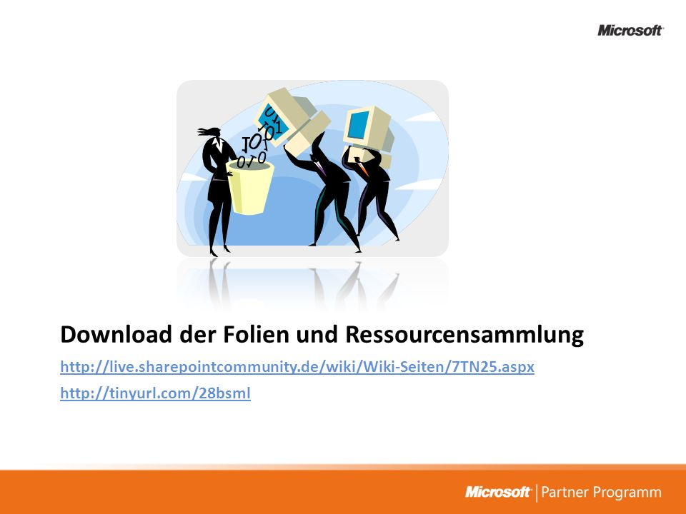 Download der Folien und Ressourcensammlung