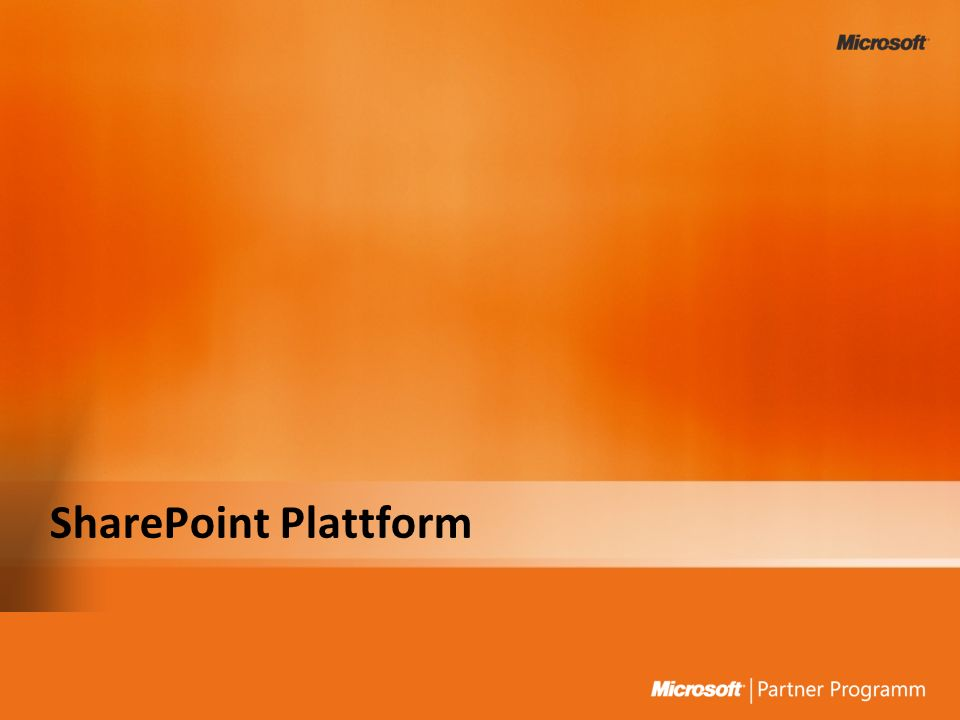 SharePoint Plattform 3/27/2017 7:47 PM