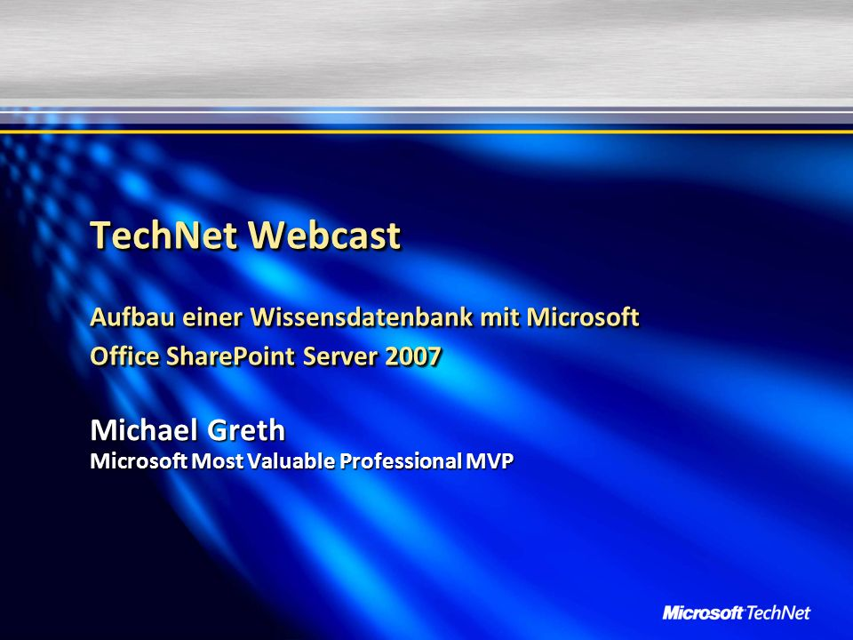 Michael Greth Microsoft Most Valuable Professional MVP