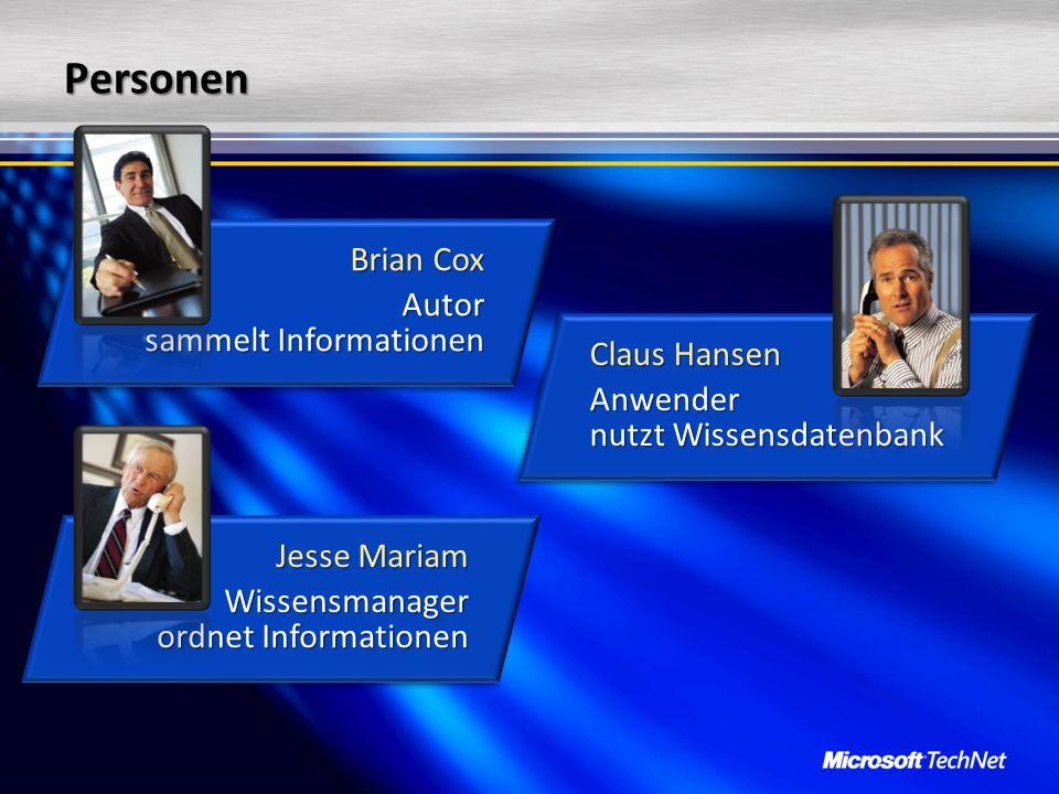 Personen Brian Cox Autor sammelt Informationen Claus Hansen