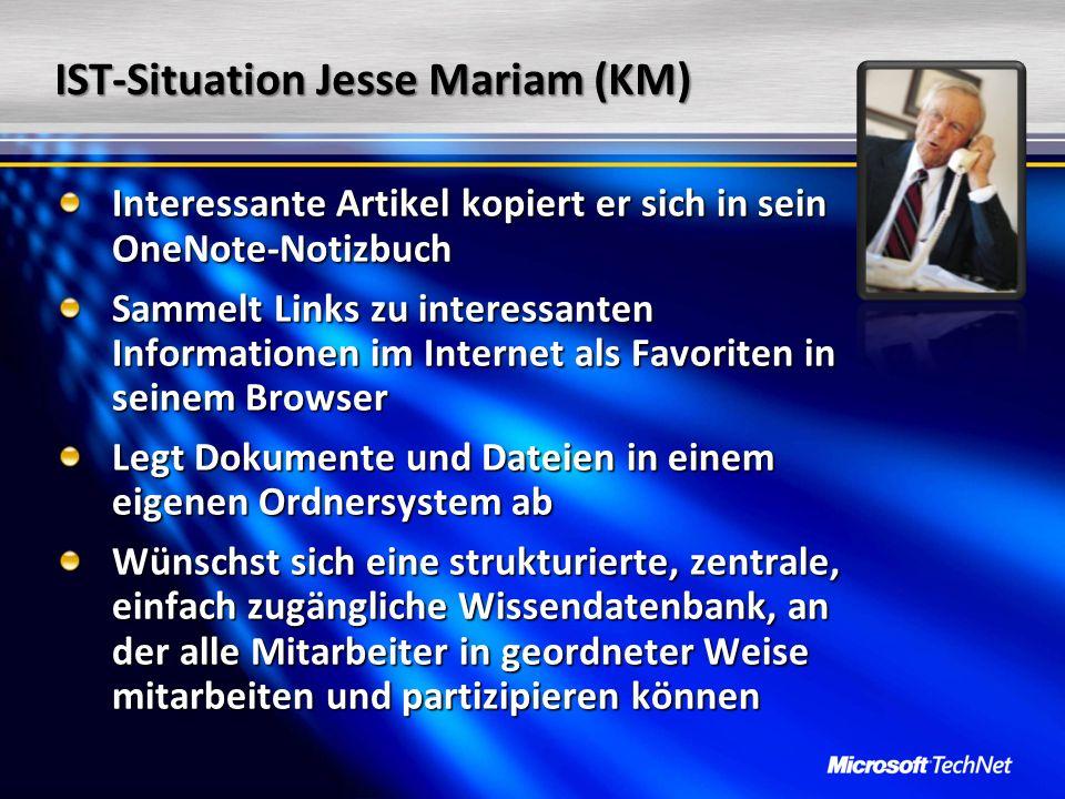 IST-Situation Jesse Mariam (KM)
