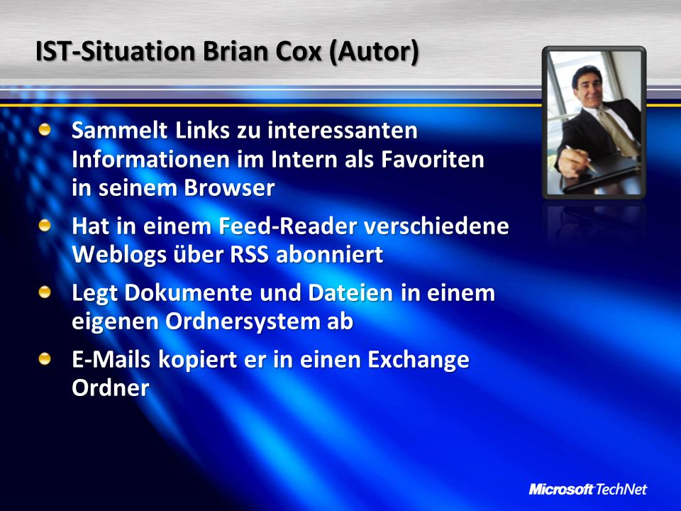 IST-Situation Brian Cox (Autor)