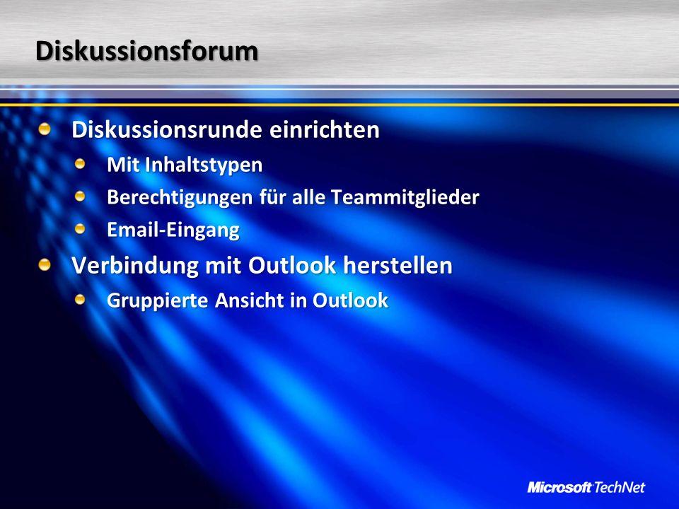 Diskussionsforum Diskussionsrunde einrichten