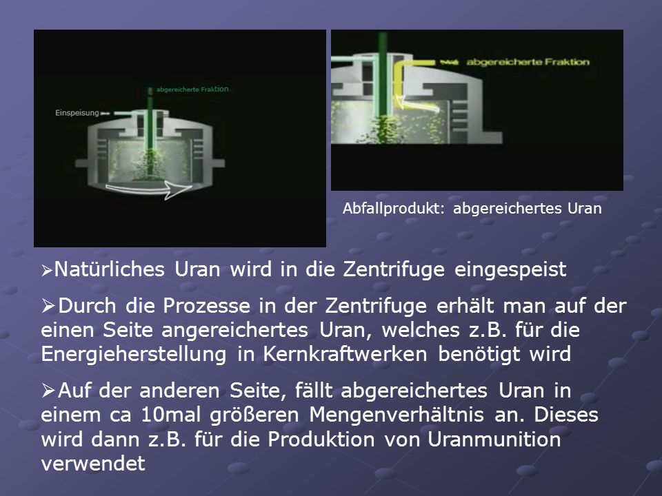 Abfallprodukt: abgereichertes Uran