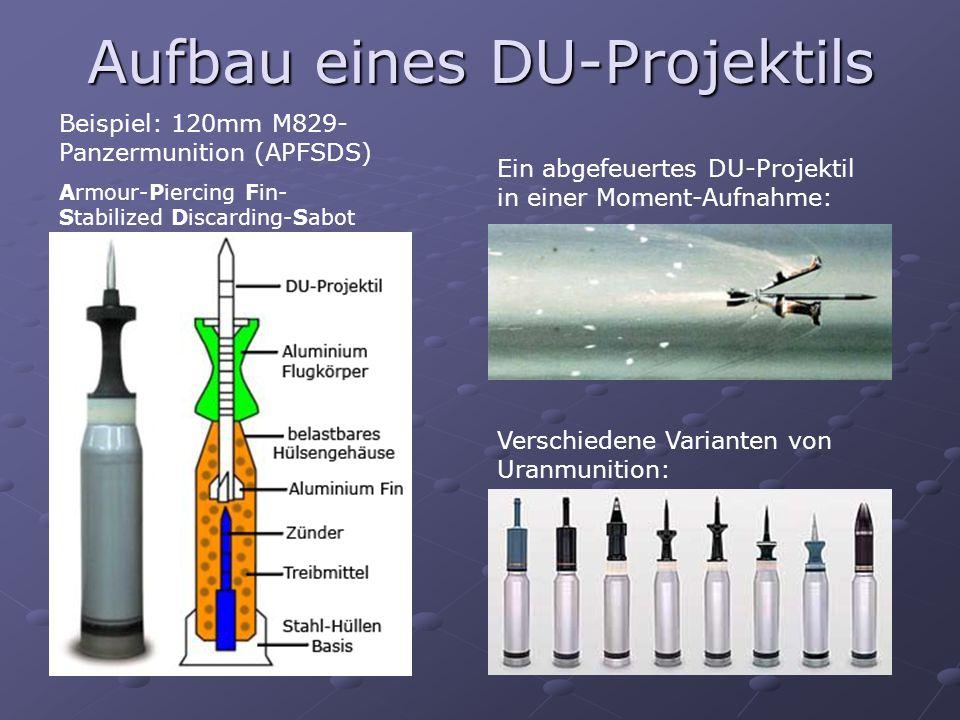 Aufbau eines DU-Projektils