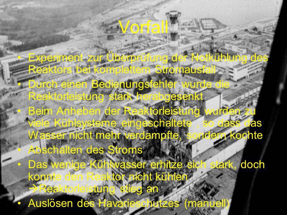 Vorfall Experiment zur Überprüfung der Notkühlung des Reaktors bei komplettem Stromausfall.