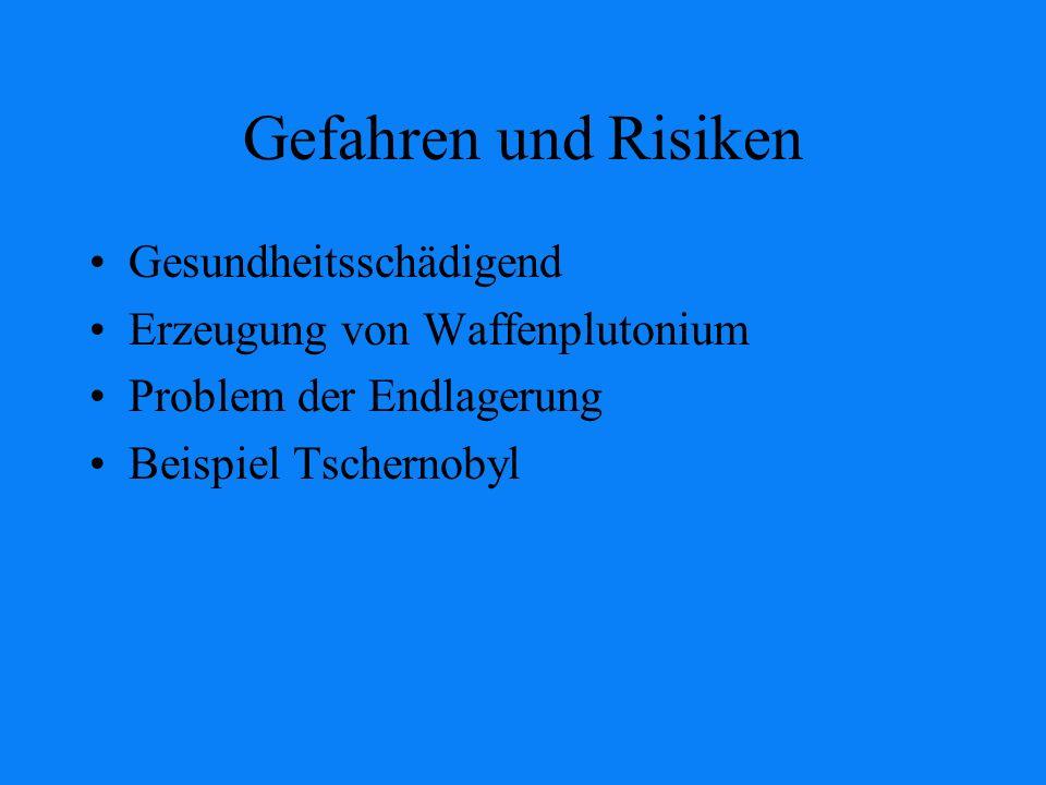 Gefahren und Risiken Gesundheitsschädigend