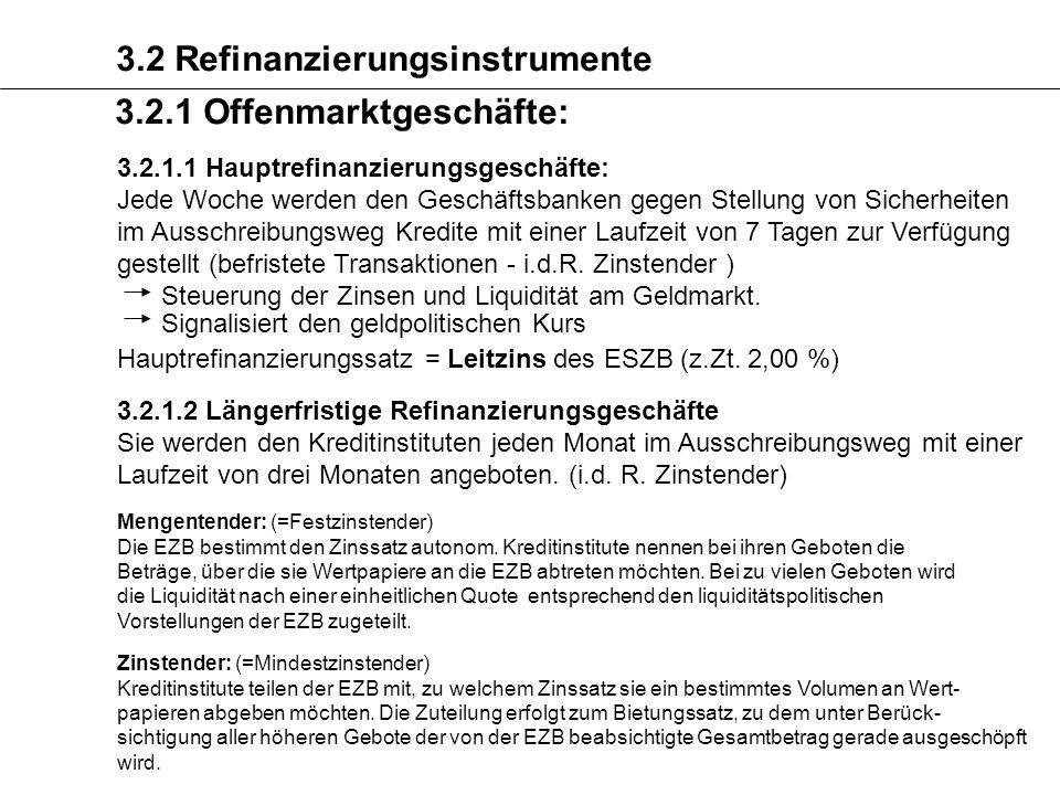 3.2 Refinanzierungsinstrumente