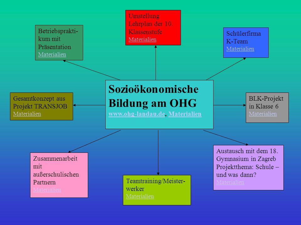 Sozioökonomische Bildung am OHG